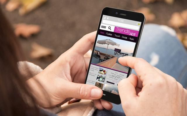 Spletna stran na mobilnem telefonu