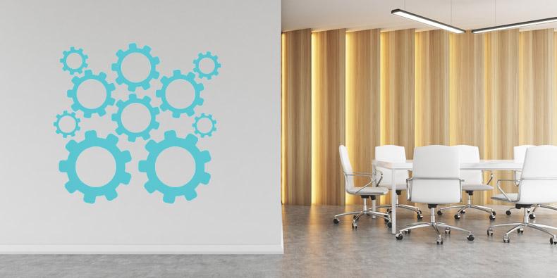 Stenske nalepke za poslovne prostore